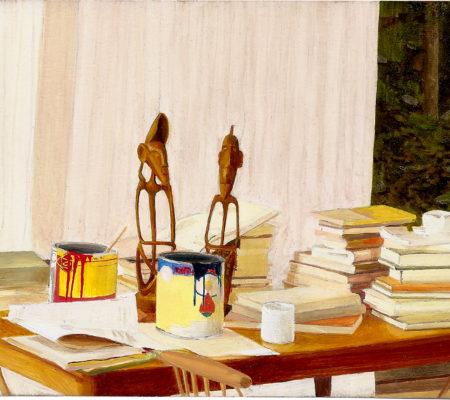 Jean Claracq, Still life in Morris Louis'Studio