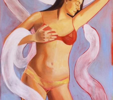 Cecilia Granara, Self portrait with snake