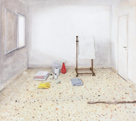 "Nathanaëlle Herbelin, ""Arad"", 2018, huile sur toile, 130 x 144 cm"