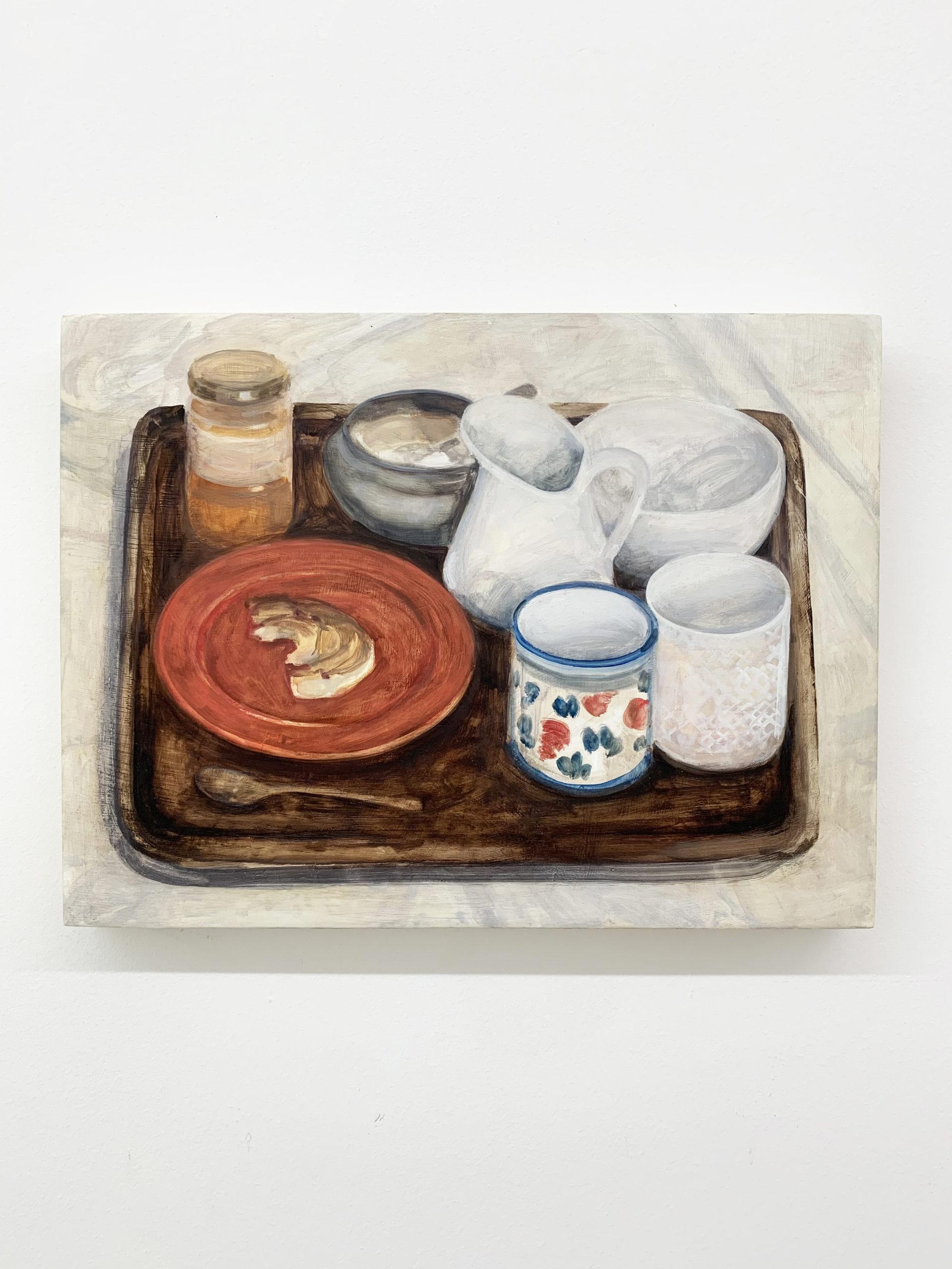 Nathanaëlle Herbelin, Boker, 2019, 30x40cm, huile sur bois