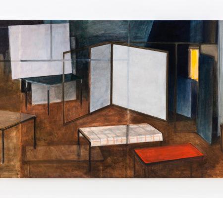 "Nathanaëlle Herbelin, ""Passim"", 2018, huile sur toile, 115 x 180 cm"