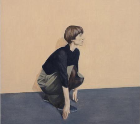 """Tim Eitel, """"Grace"""", 2017, huile sur bois, 50 x 50 cm"""
