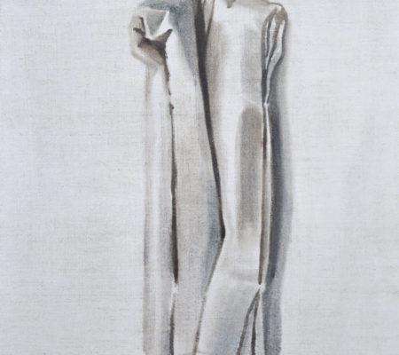 """Nathanaëlle Herbelin, """"À Jean Luc Vilmouth"""", 2015, huile sur toile, 41 x 33 cm"""