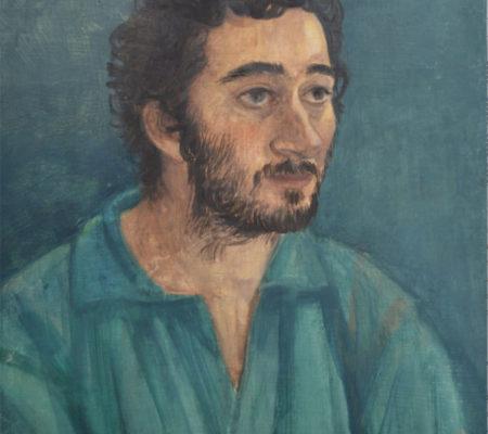 "Nathanaëlle Herbelin, ""Amos"", 2017, huile sur bois, 33 x 24 cm"