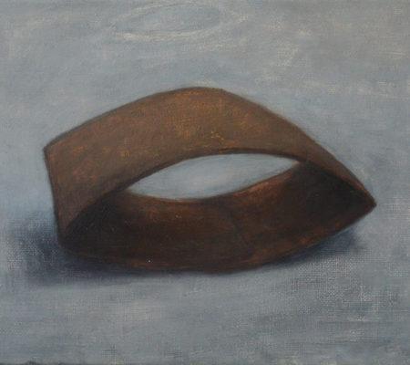 """Nathanaëlle Herbelin, """"Café, deuxième version"""", 2017, huile sur toile, 20 x 25 cm"""