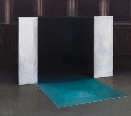 "Nathanaëlle Herbelin, ""Coin"", 2017, huile sur toile, 130 x 162 cm"