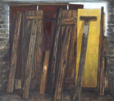 """Nathanaëlle Herbelin, """"Contre jour"""", 2017, huile sur bois, 20,5 x 22 cm"""