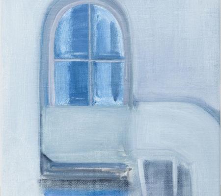 "Nathanaëlle Herbelin, ""Cooper Union"", 2015, huile sur toile, 30 x 22,5 cm"