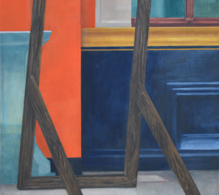 "Nathanaëlle Herbelin, ""ENSBA"", 2017, huile sur toile, 83 x 62 cm"