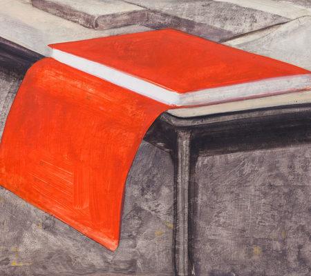"""Nathanaëlle Herbelin, """"Ecrivain"""", 2017, huile sur toile, 30 x 40 cm"""