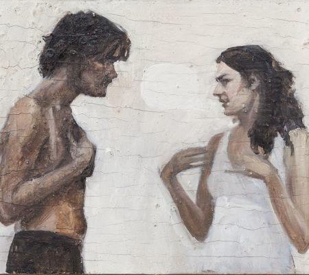 """Nathanaëlle Herbelin, """"Fernando qui ne m'a jamais rappelé"""", 2013, huile sur bois, 19,5 x 26 cm"""