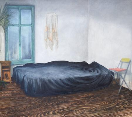 "Nathanaëlle Herbelin, ""Layla"", 2017, huile sur toile, 130 x 185 cm"