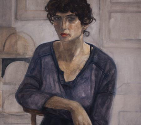 "Nathanaëlle Herbelin, ""Ofri"", 2017, huile sur toile, 60 x 50 cm"