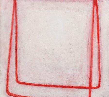 """Nathanaëlle Herbelin, """"Portant Esquisse"""", 2017, huile sur bois, 32 x 30 cm"""