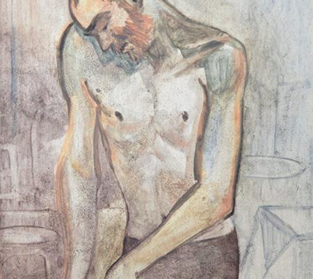"Nathanaëlle Herbelin, ""Shahar"", 2017, huile sur toile, 24 x 18 cm"