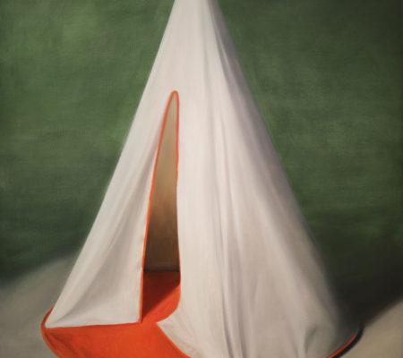 "Nathanaëlle Herbelin, ""Tippy"", 2014, huile sur toile, 146 x 114 cm"