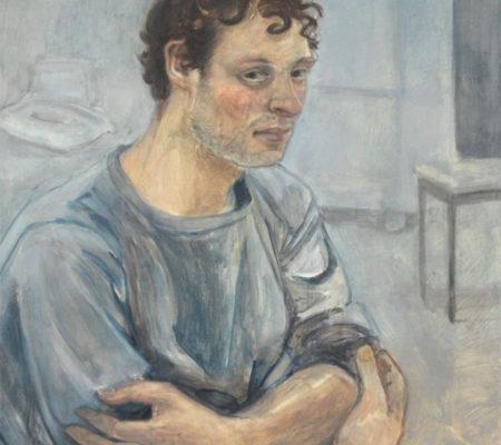 """Nathanaëlle Herbelin, """" Vincent"""", 2017, huile sur toile, 42 x 34 cm"""