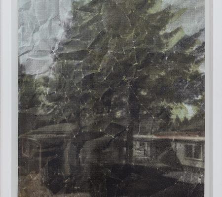 Eva Nielsen, Aphakie I, 2017, acrylique, aquarelle et sérigraphie sur papier, 40 x 30 cm