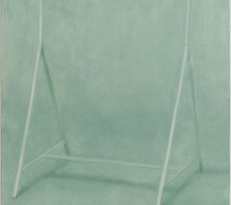 """Nathanaëlle Herbelin, """"Portant"""", 2017, huile sur toile, 92 x 73 cm"""