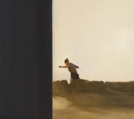 """Tim Eitel, """"Hinter Felsen"""", 2016, huile sur toile, 115 x 90 cm"""