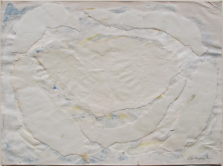 Achrome, Temps F, 1957 gouache, collage sur papier - 20 x 26,5 cm