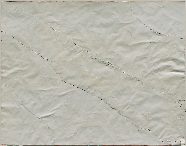 Achrome, Temps C, 1955 collage sur papier - 44 x 56 cm