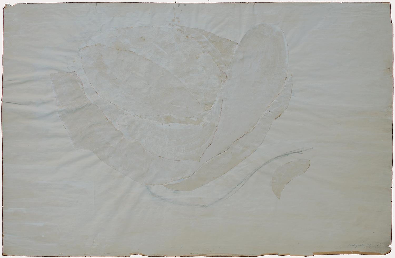 1955 gouache, collage sur papier - 64 x 100 cm