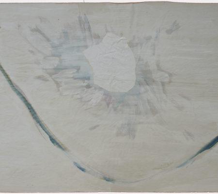 1956 gouache, papier déchiré, collage sur papier - 64 x 100 cm