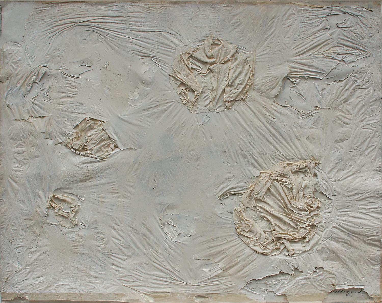 1957.papier-de-soie-froissé-collage-sur-papier.50x66