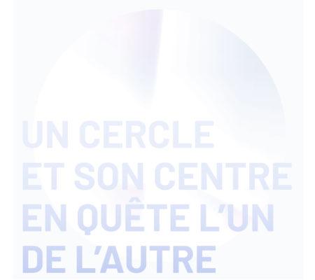 Un cercle et son centre en quête l'un de l'autre