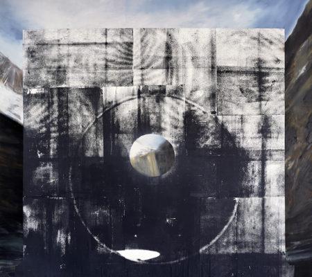 Eva_Nielsen-Ascien_X-2019-encre_et_sérigraphie_sur_toile-210x220cm