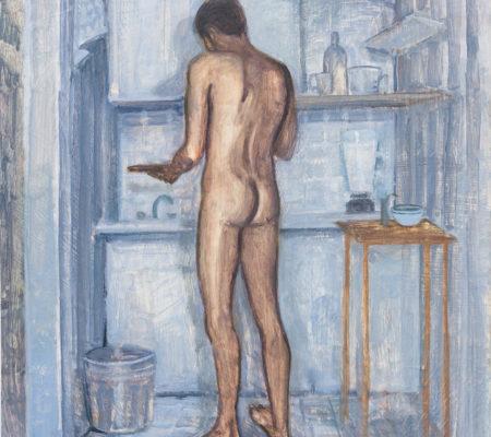 Kitchen, 2019, huile sur bois, 46 x 48 cm