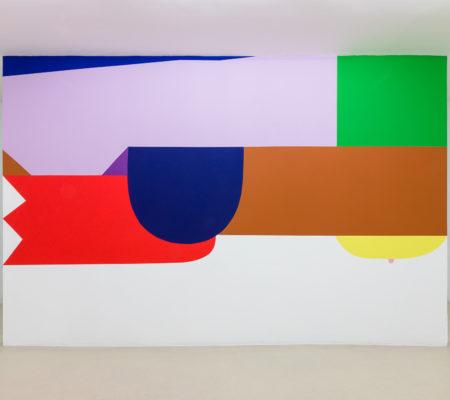 Seulgi Lee, La vache dévore le lion (d'après Kim Beom), 2019, peinture murale
