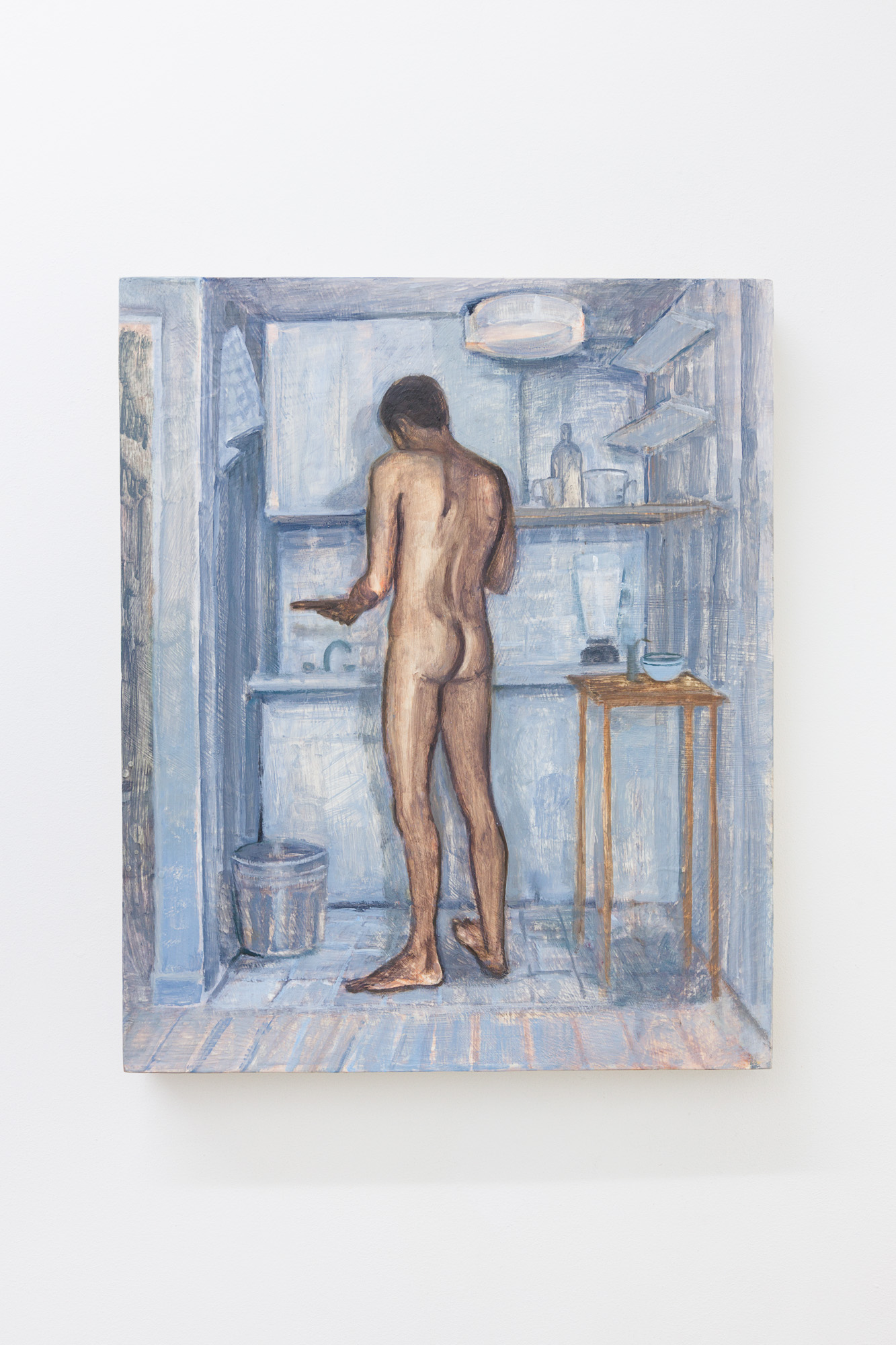 Nathanaëlle Herbelin, Kitchen, 2019, huile sur bois, 46x38cm