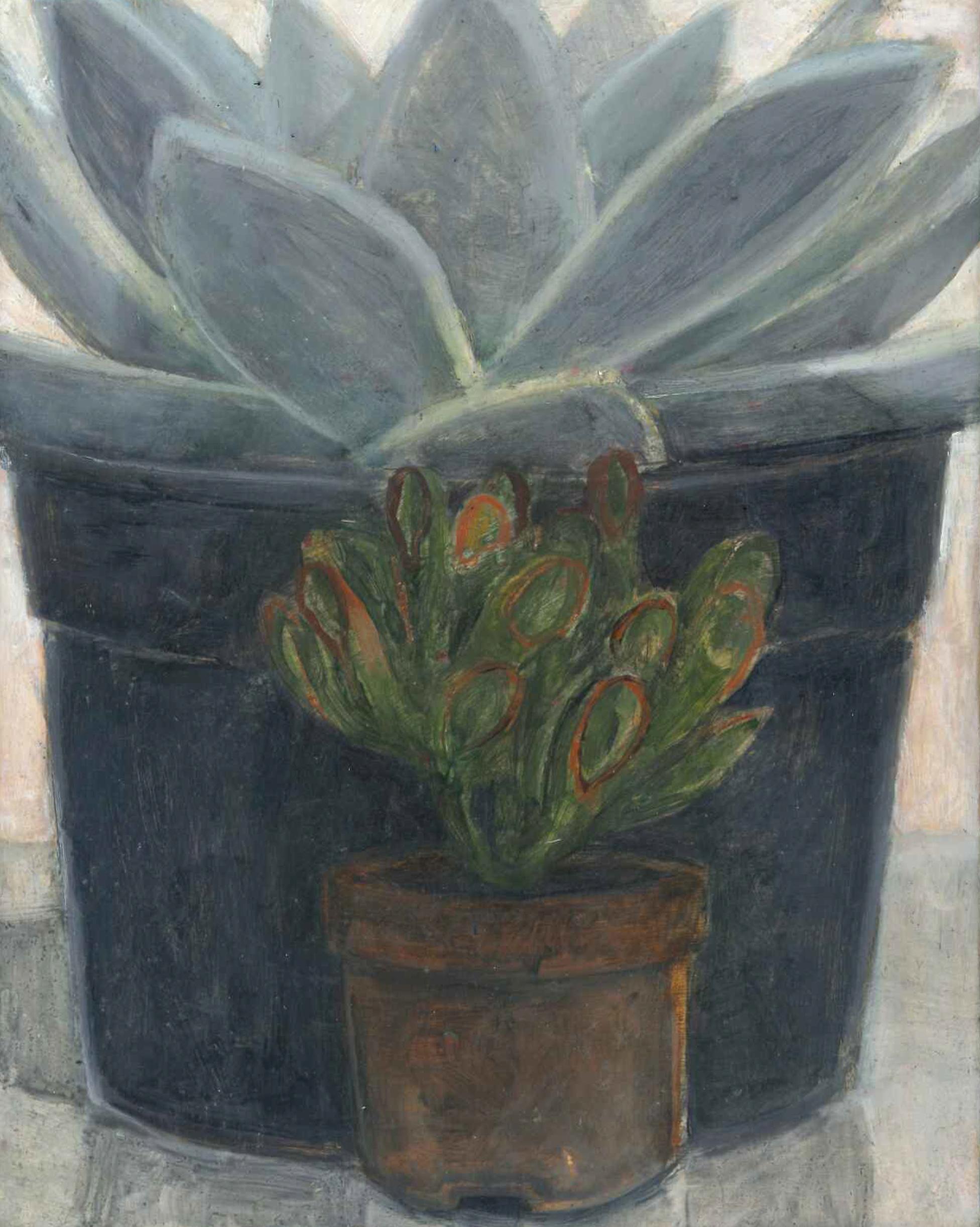 Nathanaelle Herbelin, Fat plant, 2018, 27 x 22 cm, huile sur bois