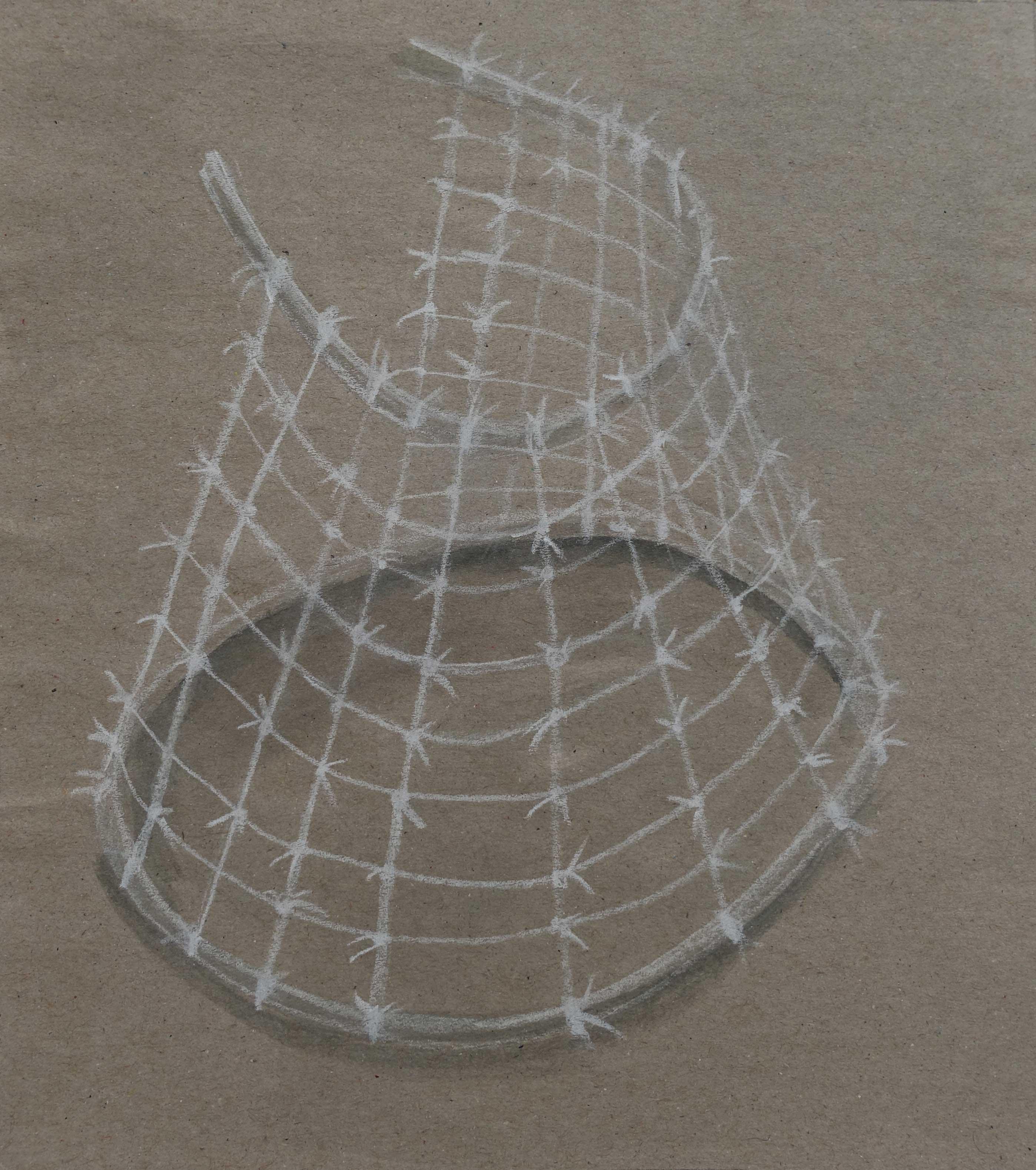 Geidai, 2015, crayon sur papier, 18,5 x 16,5cm