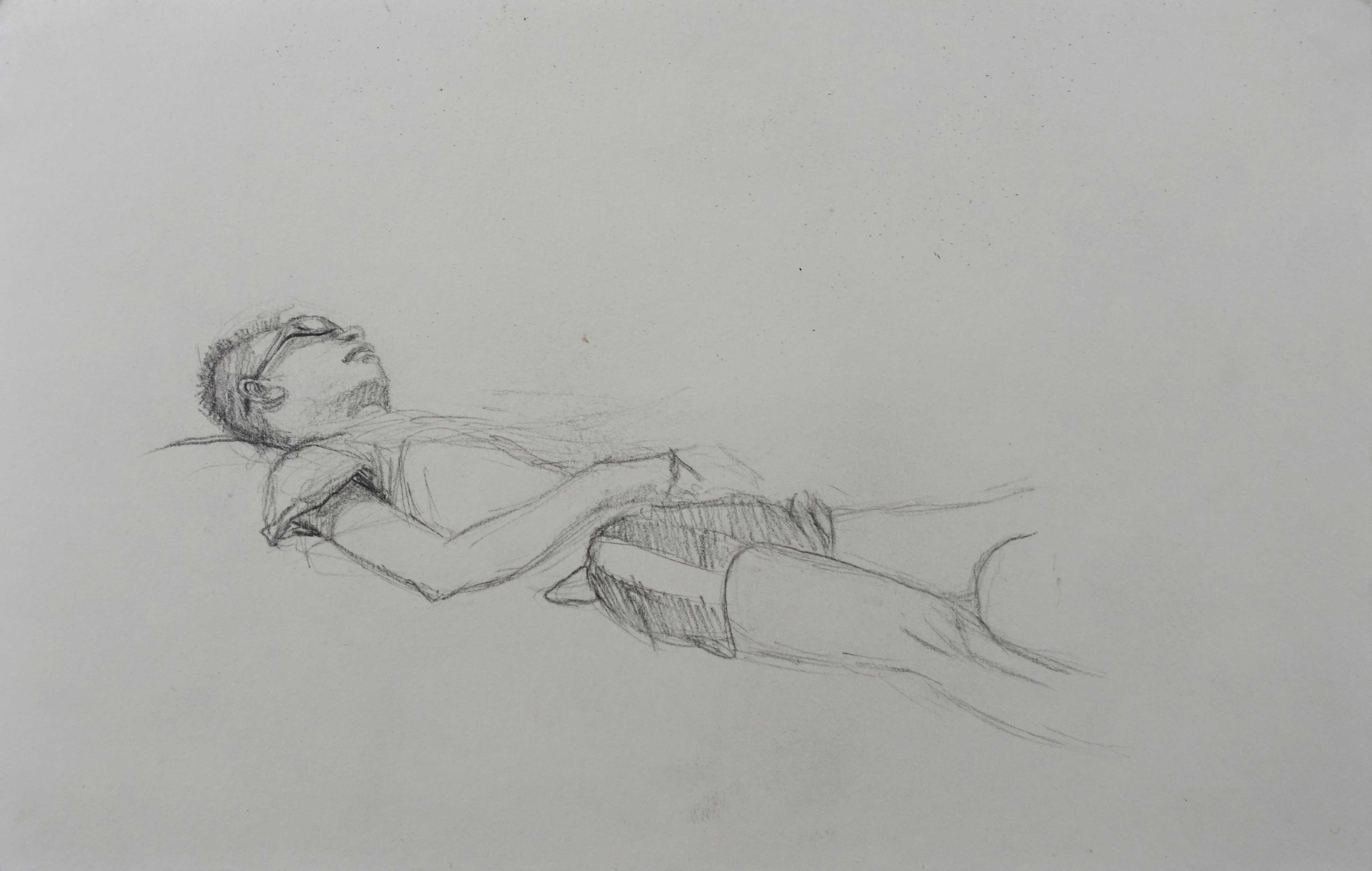 Yan, 2012, crayon sur papier, 14 x 21,5cm