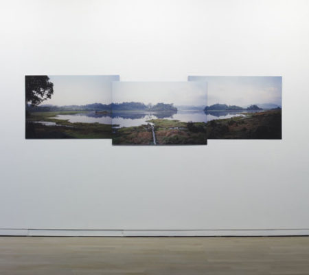 Ariane Michel, L'aube, collage de trois tirage argentique