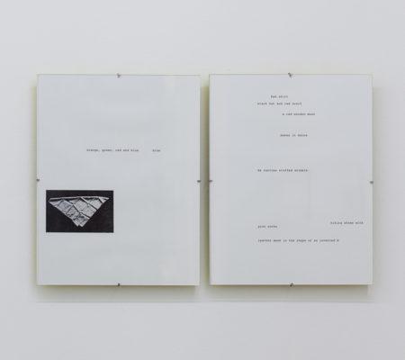 Rometti Costales, Blue has run I & II (jaune), 2016, black and white prints,21,4 x 27,9 cm