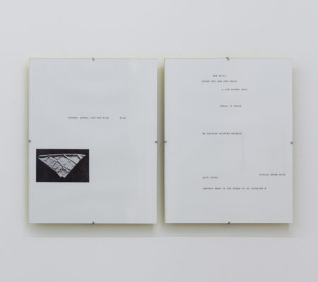 "Rometti Costales, ""Blue has run"", 2016, impressions noir et blanc,21,4 x 27,9 cm"
