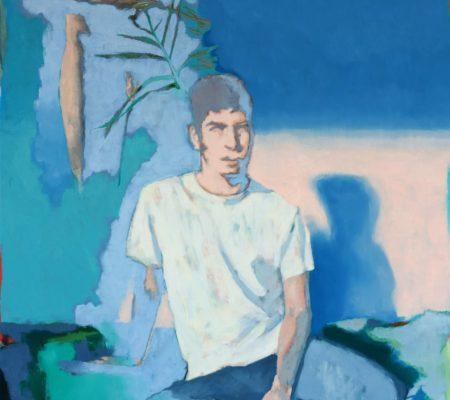 Simon Martin, 14h sur le lit, 2020, huile sur toile, 162 x 130 cm