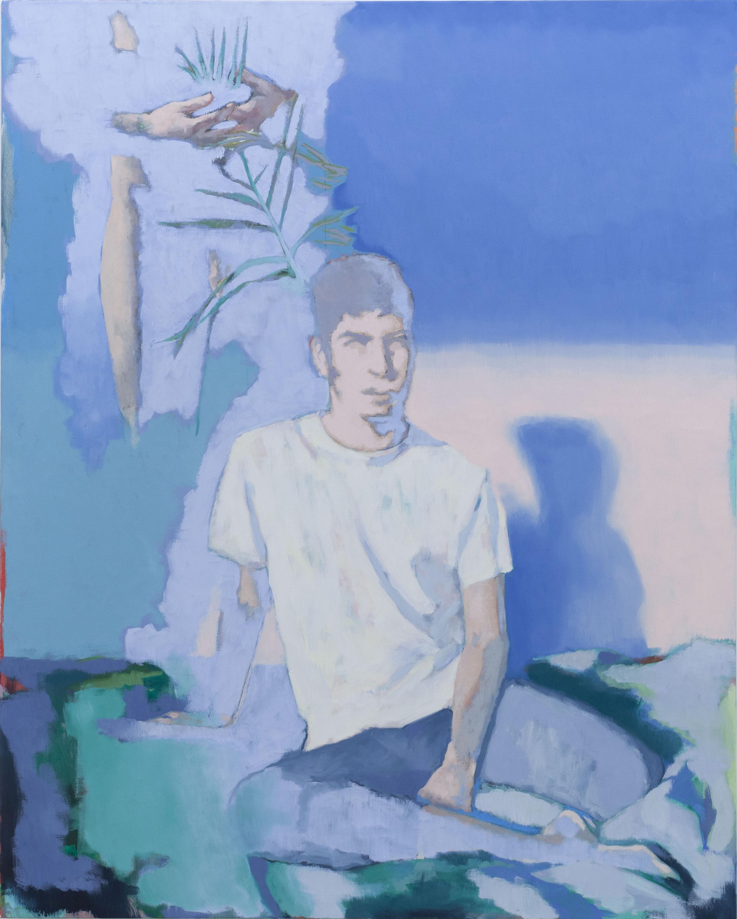 14h sur le lit, 2020, huile sur toile, 162 x 130 cm_photo Julie Coulon_web_1