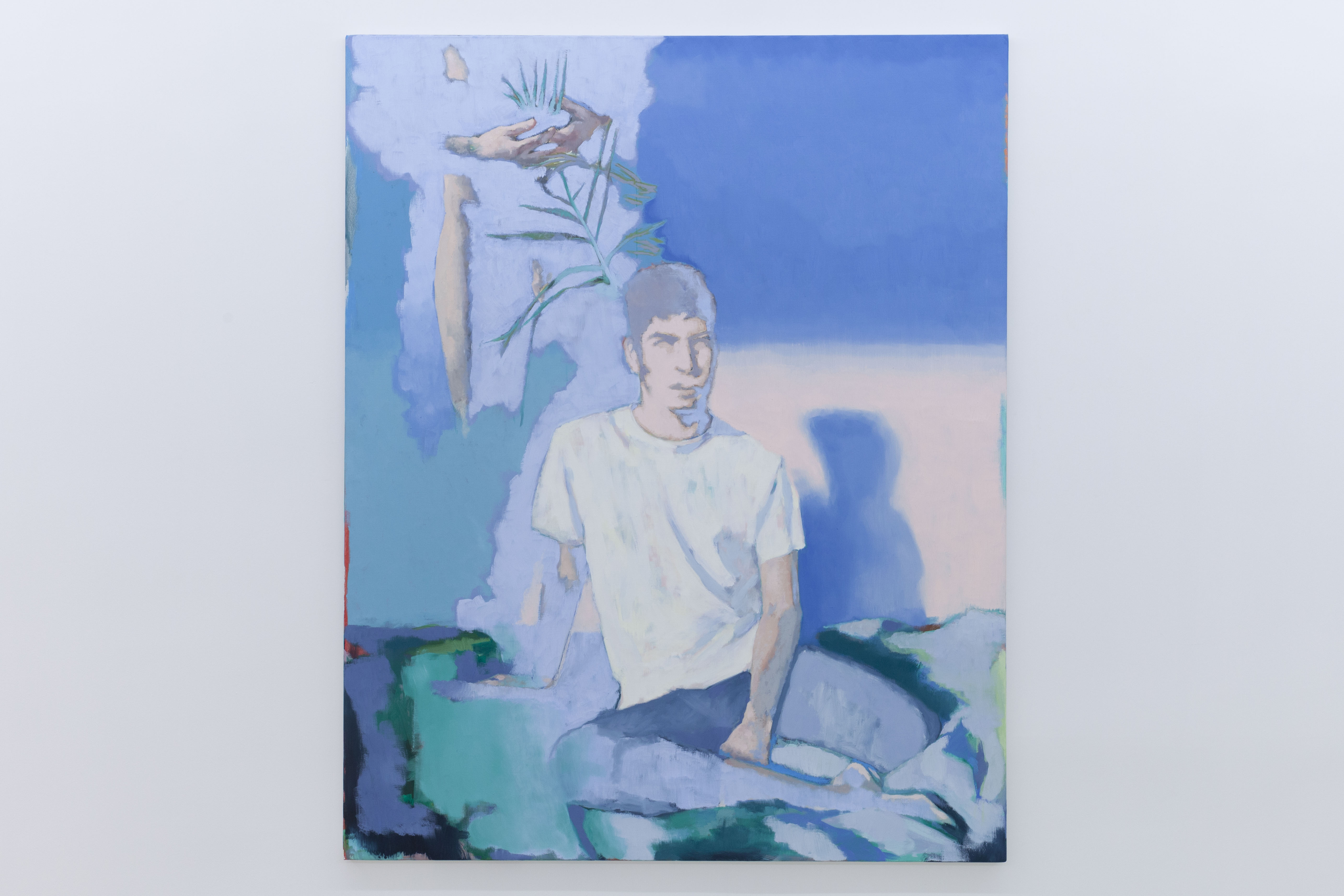 14h sur le lit, 2020, huile sur toile, 162 x 130 cm_photo Julie Coulon_web_2