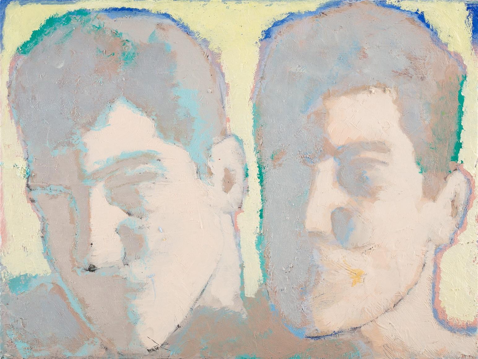 Simon Martin, Amoureux rétro-éclairés II, 2019, huile sur toile, 18 x 24 cm_web