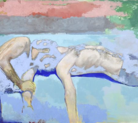 Simon Martin, Les ombres ont la couleur du ciel sur les homme endormis, 2019, huile sur toile_web