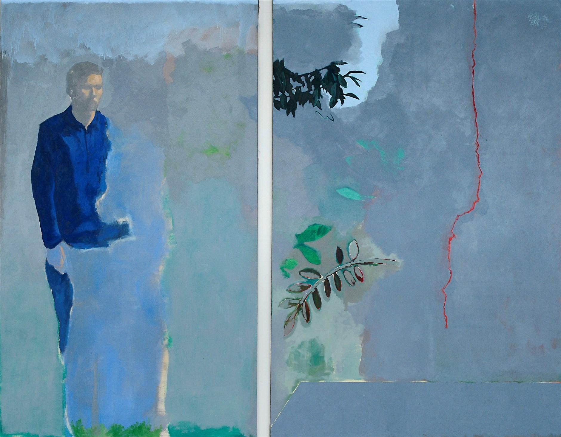 Simon Martin, Le rendez-vous manqué, 2018, huile sur toile, 195 x 240 cm_web