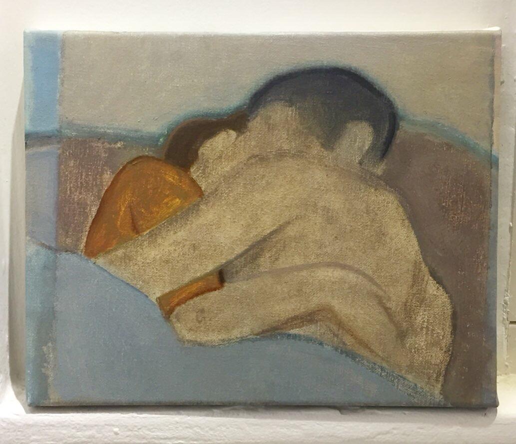 Nathanaëlle Herbelin, Huile sur toile, 2020, huile sur toile, 27x22cm