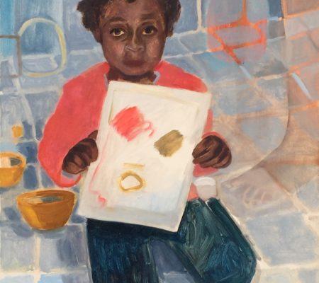 Nathanaëlle Herbelin, Sinit, 2020, huile sur toile, 65x54 cm