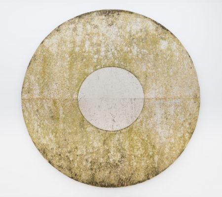 """Toile produite par la matrice """"Tore"""", printemps/été 2019, Senlis,toile de coton brut,Ø 250 cm"""