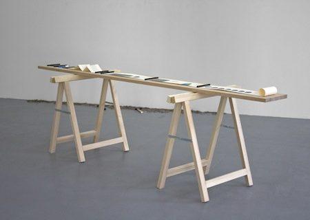 """Martin Le Chevallier, """"11h29'15'"""", 2012, processus : mesure du temps de travail d'un artiste (Julien Prévieux) - galerie Jousse Entreprise"""